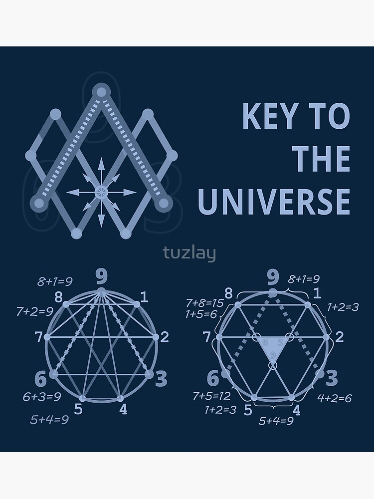 Key To The Universe (light blue on dark monochrome) by tuzlay