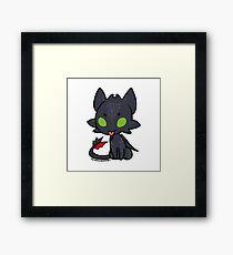 Toothless Chibi Framed Print