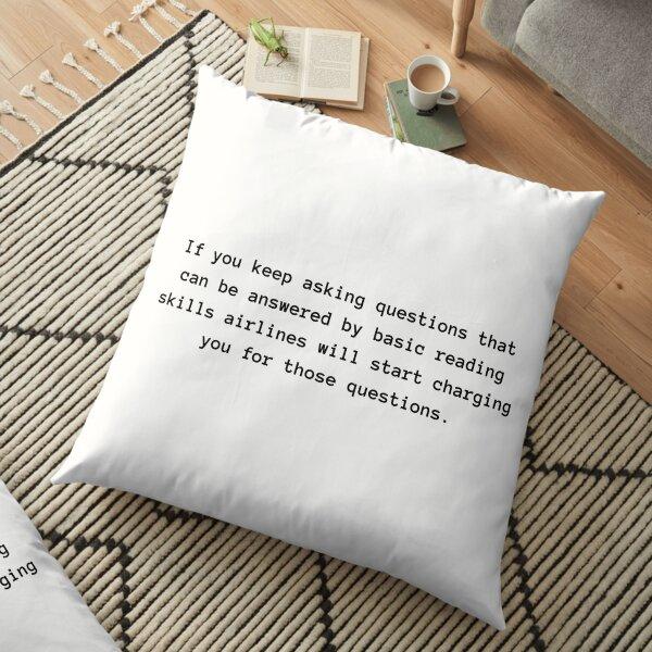 Reading skills Floor Pillow