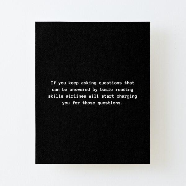 Basic Reading Skills Canvas Mounted Print