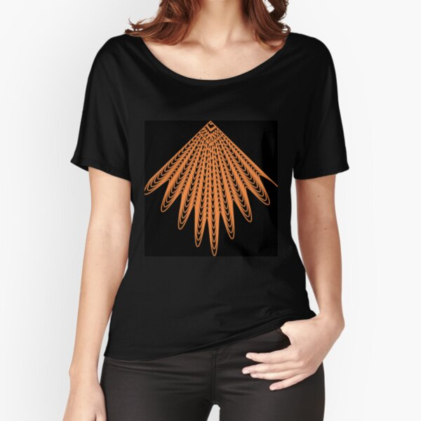 Trippy Decorative Pattern Relaxed Fit T-Shirt