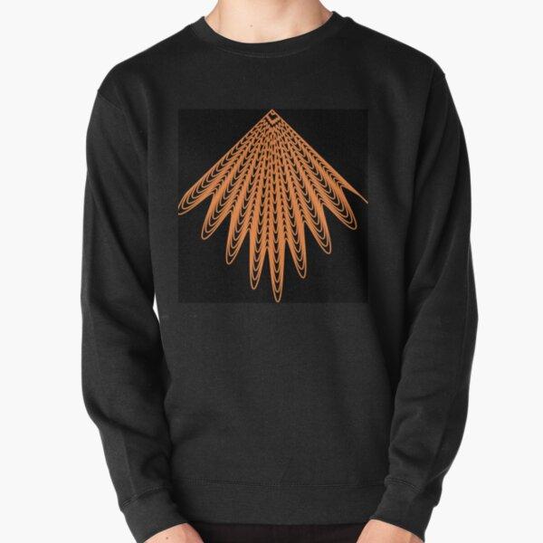 Trippy Decorative Pattern Pullover Sweatshirt