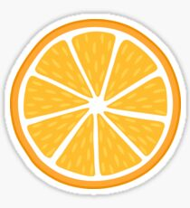 Orange slice sticker Sticker