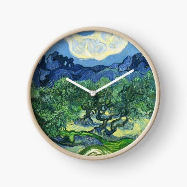 Vincent Van Gogh - The Olive Trees. Clock