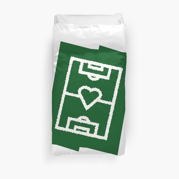 Football field with a heart - trend color dark green Duvet Cover