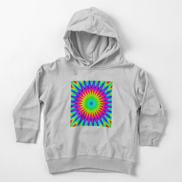 Trippy Decorative Pattern Toddler Pullover Hoodie