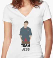 Team Jess - Jess Mariano Women's Fitted V-Neck T-Shirt