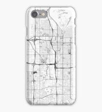Salt Lake City Map Gray iPhone Case/Skin