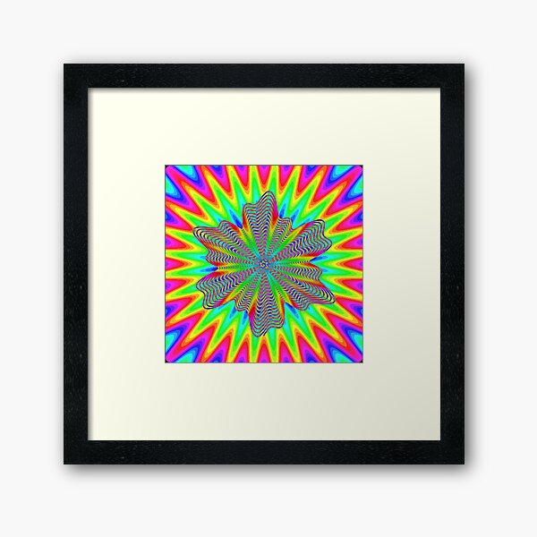 Trippy Decorative Pattern Framed Art Print