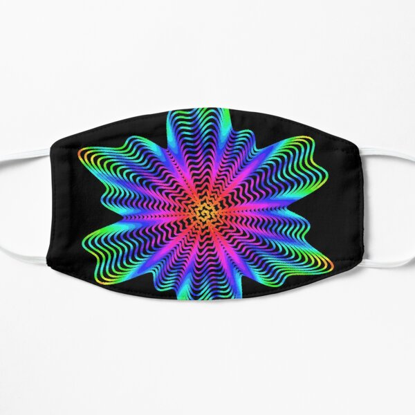 Trippy Decorative Pattern Flat Mask