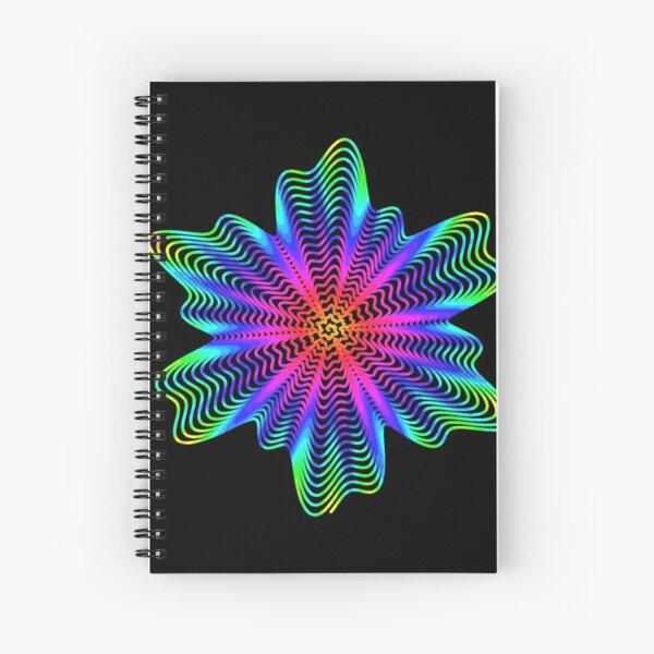 Trippy Decorative Pattern Spiral Notebook