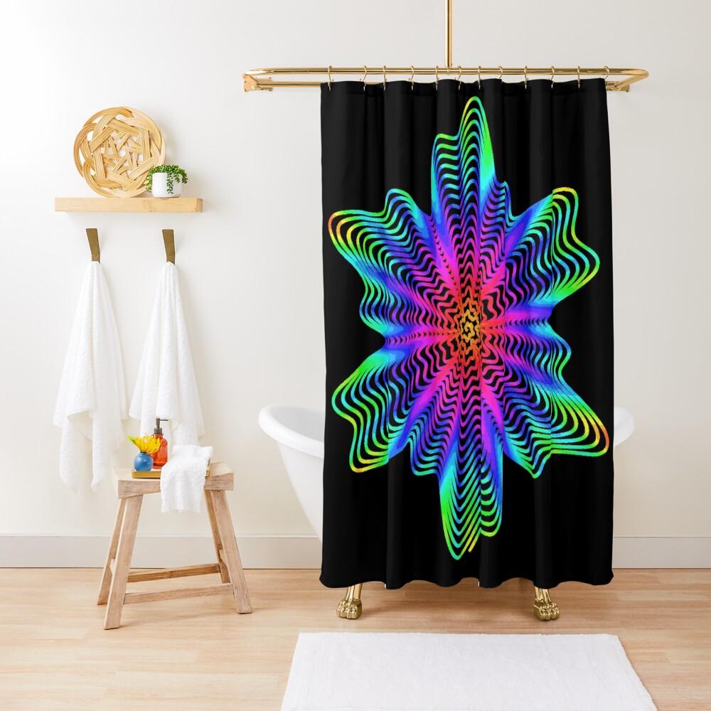 Trippy Decorative Pattern Shower Curtain