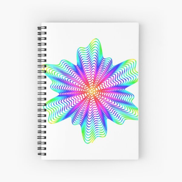 Trippy Decorative Pattern Spiral Notebook
