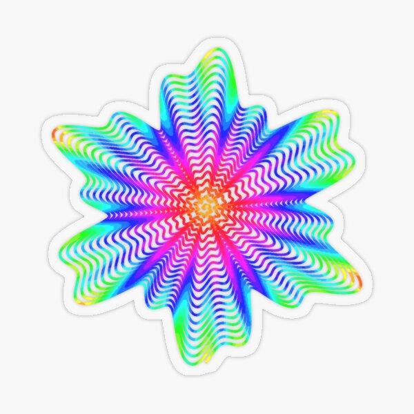 Trippy Decorative Pattern Transparent Sticker