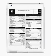 Airbus A320 checklist iPad Case/Skin