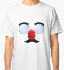 Funny Glasses with a red nose. Classic T-Shirt