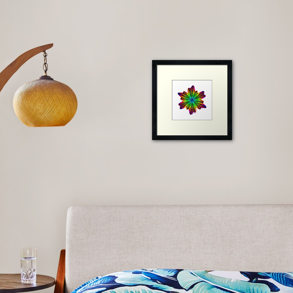 Trippy Decorative Pattern Framed Art Print