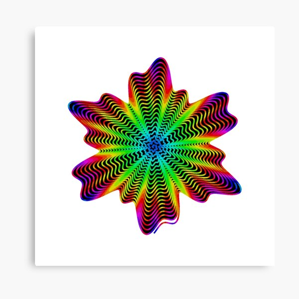 Trippy Decorative Pattern Canvas Print