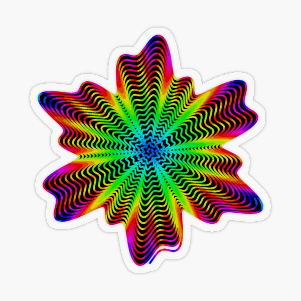 Trippy Decorative Pattern Transparent Sticker