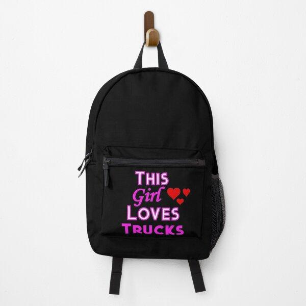This Girl Loves Trucks Backpack