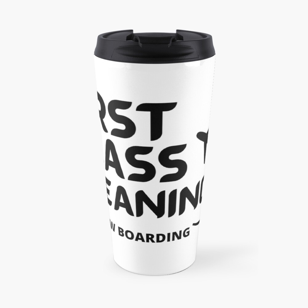 First Class Cleaning Inspirational Housekeeping Gift Travel Mug
