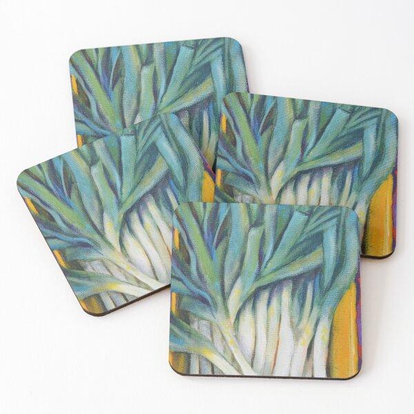 Leeks in a box Coasters (Set of 4)