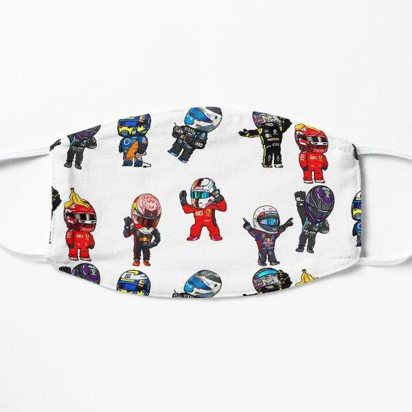 Pack d'autocollants Mini pilotes F1 Masque sans plis