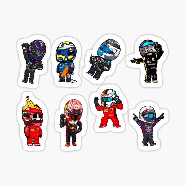 Pack d'autocollants Mini pilotes F1 Sticker