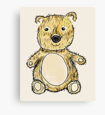 Cute Teddy Design (Pen-and-Wash Effect) Canvas Print