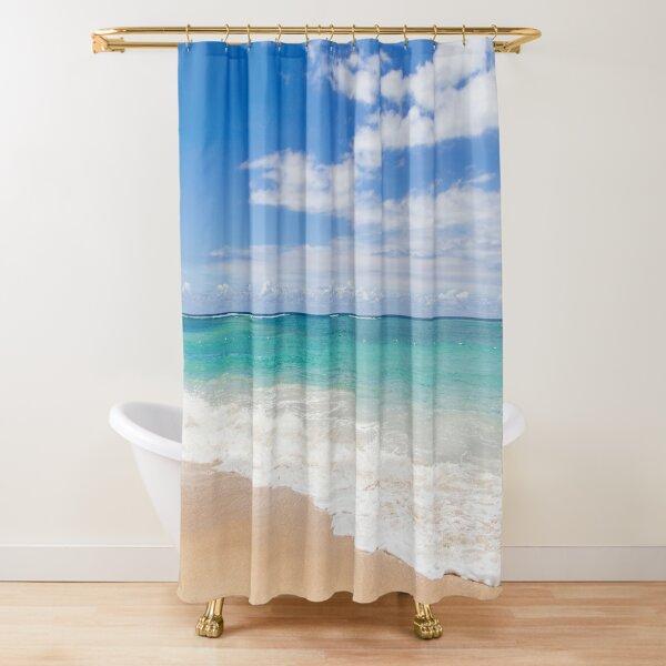 Gorgeous bathroom Photographic Shower Curtain-HUT,BEACH,PEBBLES,MARBLE,GLITTERS