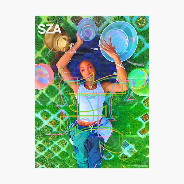 SZA SATURATED POSTER Photographic Print