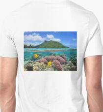 Island coral and fish underwater French Polynesia T-Shirt