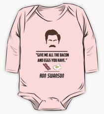 Ron Swanson One Piece - Long Sleeve