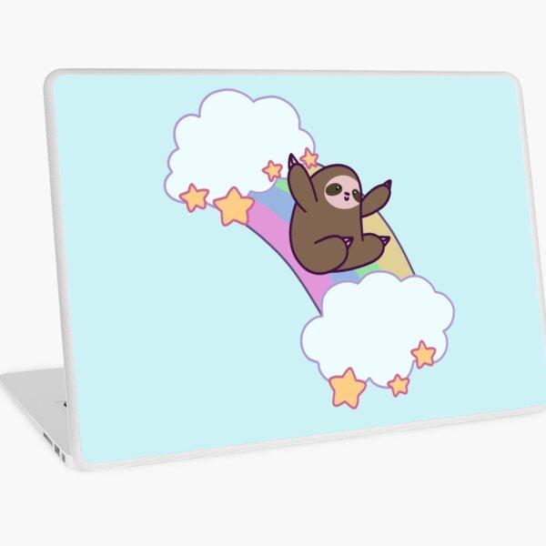 Rainbow Cloud Sloth Laptop Skin