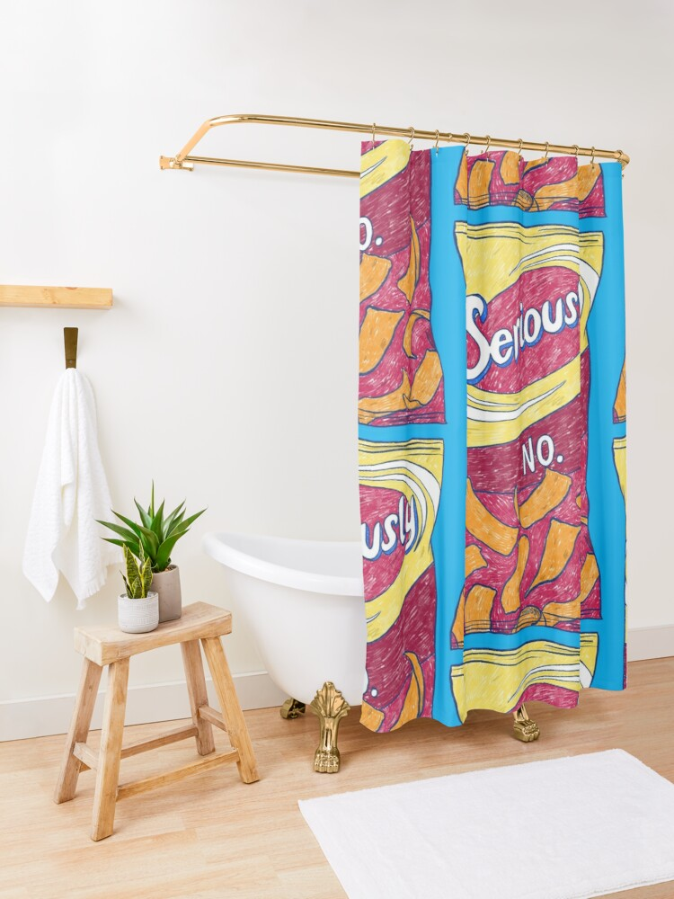 Alternate view of Seriously No Shower Curtain