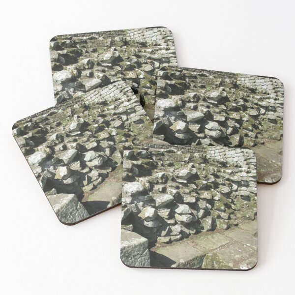 M.I. #111  ☼  Rocks And Bricks - Shot 13 (Hadrian's Wall) Coasters (Set of 4)