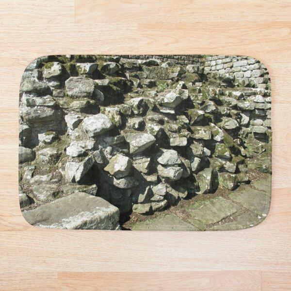 M.I. #111 |☼| Rocks And Bricks - Shot 13 (Hadrian's Wall) Bath Mat