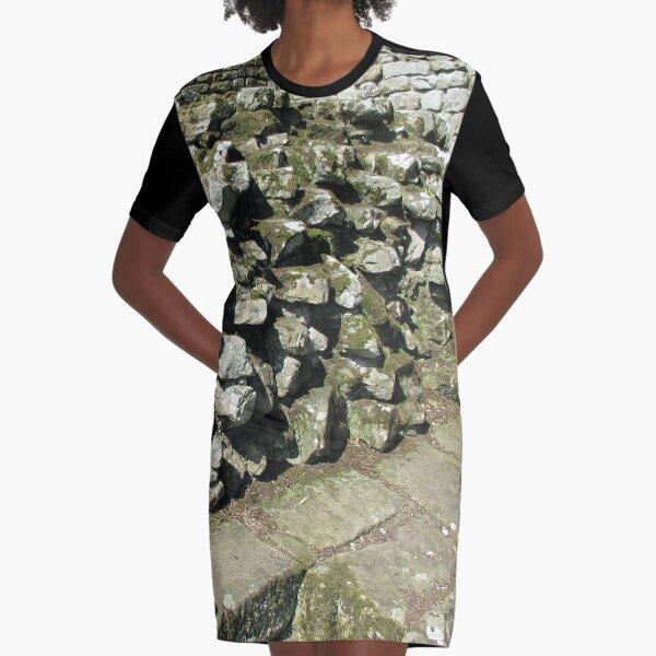 M.I. #111 |☼| Rocks And Bricks - Shot 13 (Hadrian's Wall) Graphic T-Shirt Dress