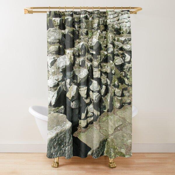 M.I. #111  ☼  Rocks And Bricks - Shot 13 (Hadrian's Wall) Shower Curtain