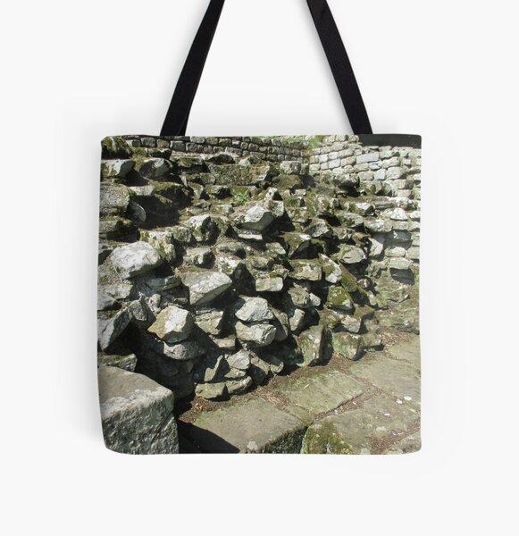 M.I. #111 |☼| Rocks And Bricks - Shot 13 (Hadrian's Wall) All Over Print Tote Bag