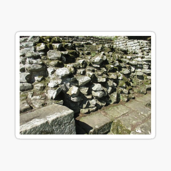 M.I. #111  ☼  Rocks And Bricks - Shot 13 (Hadrian's Wall) Sticker
