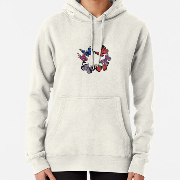 Butterflies in a Circle Pullover Hoodie