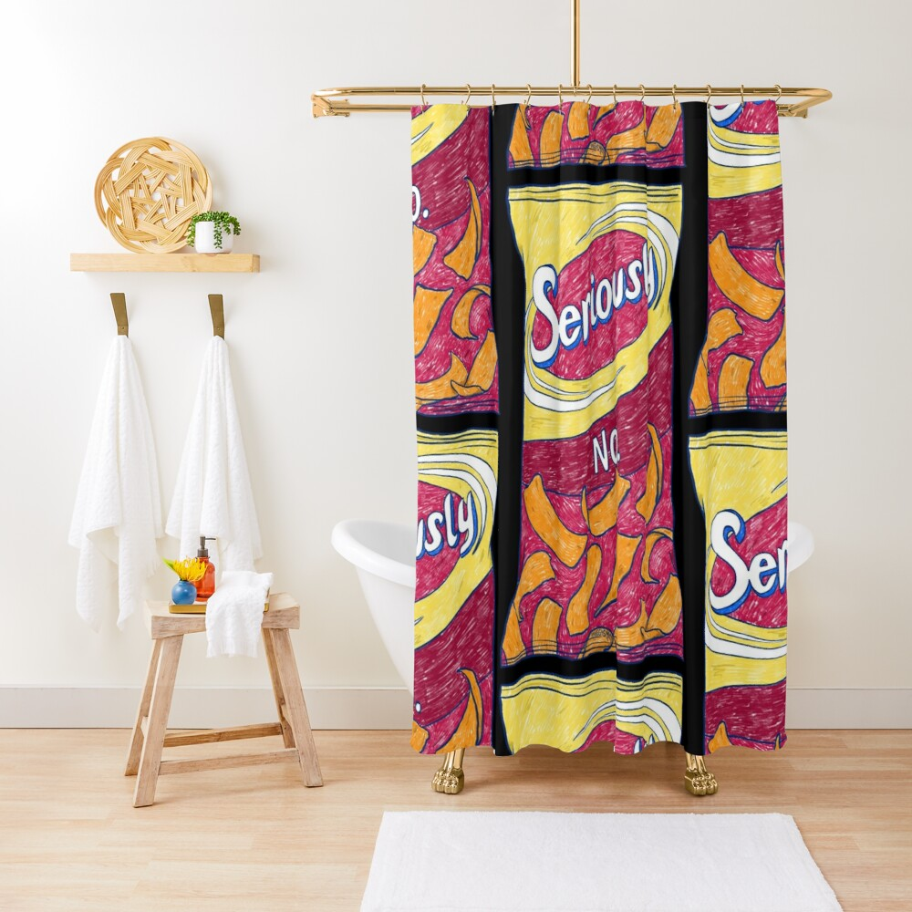 Seriously No (Black) Shower Curtain
