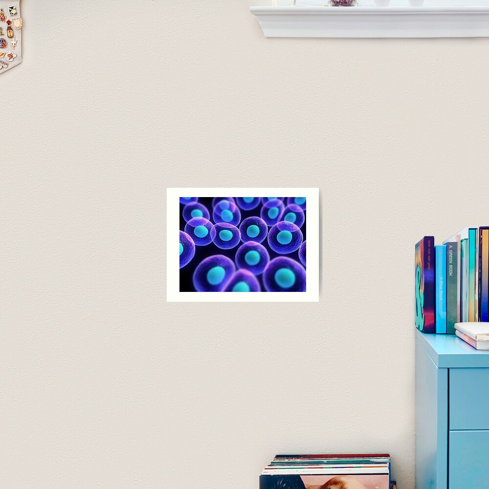 Adult stem cells are thought to be the body's natural repair system. #FactualFriday #StemCells #HeartDisease Art Print