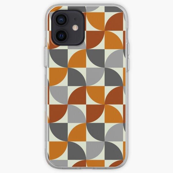 Grey and Orange Mid Century Modern iPhone Soft Case