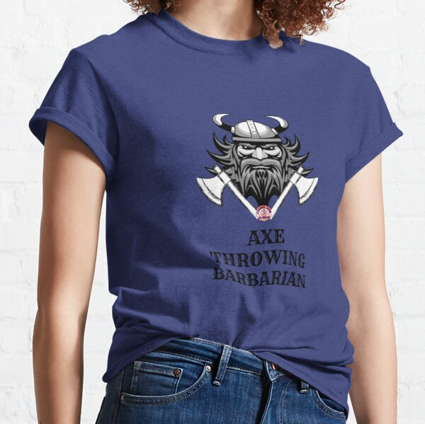 Axe throwing barbarian Classic T-Shirt