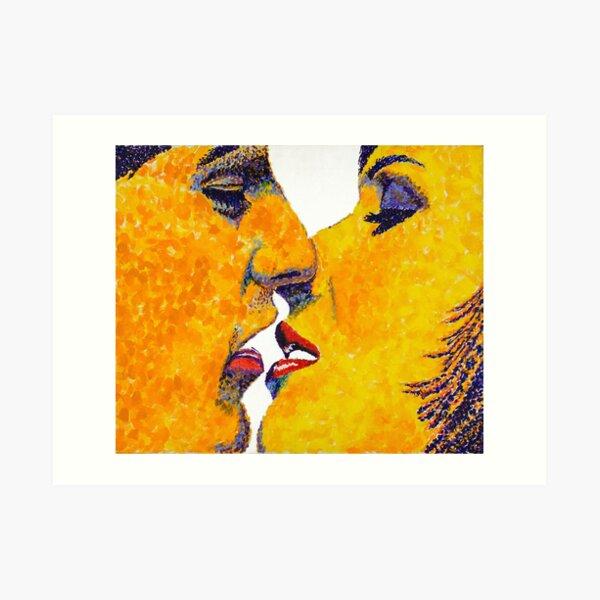 Kissing No. 1 Art Print