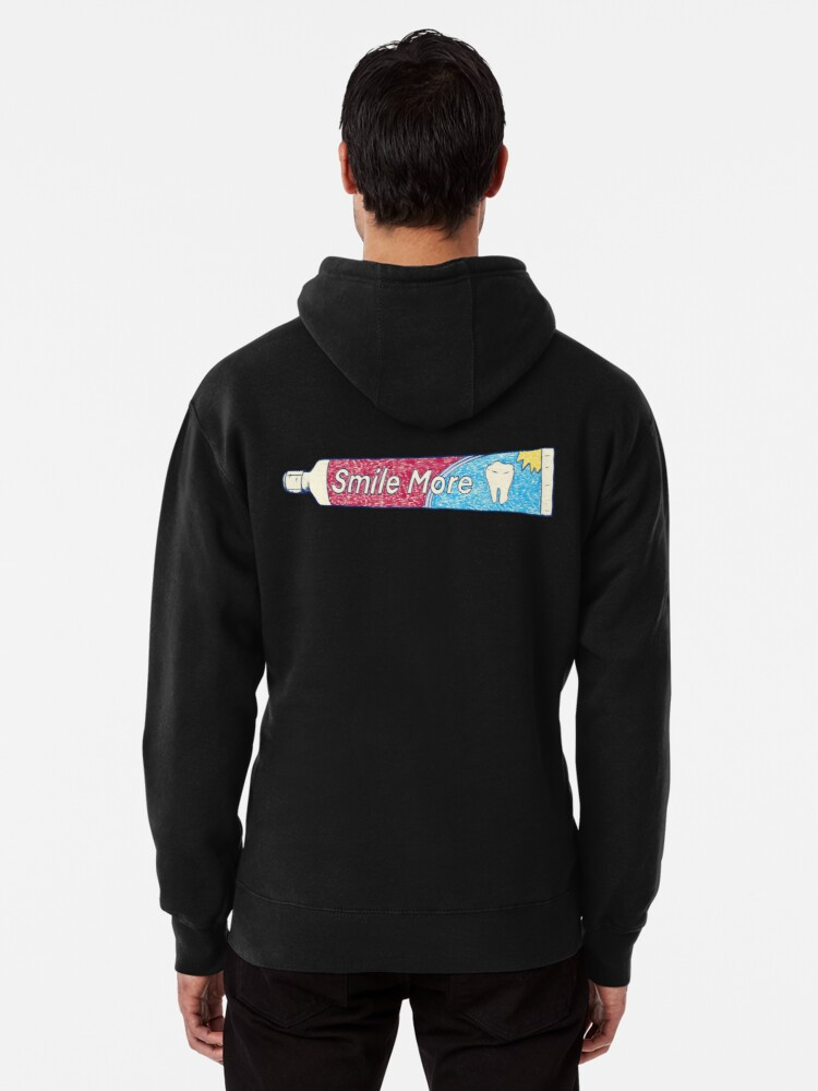 Alternate view of Smile More Pullover Hoodie
