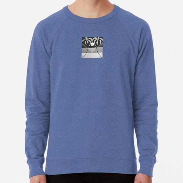 TROPICAL SUNSET - Surf Art Design (Black&White) - scroll down Lightweight Sweatshirt