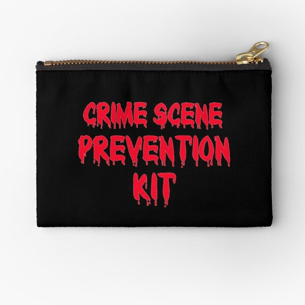 Zipper Pouch for Girls - Crime Scene Prevention Kit Zipper Pouch